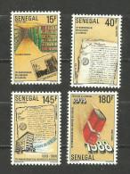 Sénégal N°807 à 810 Neufs Avec Trace De Charnière* Cote 4 Euros - Senegal (1960-...)