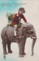 Gelukkig Nieuwjaar Bonne Annee Nouvel An Happy New Year Neujahr Olifant Elefant Elephant Elefante Elefant - Éléphants