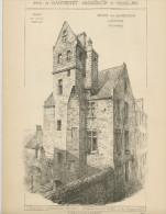 PETITS ÉDIFICES RECUEILLIS PAR A. RAGUENET 1892 - MAISON RUE BOURDENEUR À BAYEUX (CALVADOS), MAISON EN PAN DE BOIS À COM - Architecture