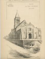 PETITS ÉDIFICES RECUEILLIS PAR A. RAGUENET 1892 -  EGLISE DE SAINT-MENOUX (ALLIER) - Architecture