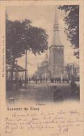 Souvenir De Ciney - L'Eglise (animée, Kiosque, 1900) - Ciney