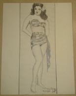 Dessin Au Crayon 1951 - Karen Varga ( 2) - Drawings