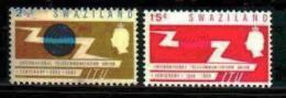 SWAZILAND, 1965, Mint Lightly  Hinged Stamps, U.I.T. 115-116 , #6606 - Swaziland (...-1967)