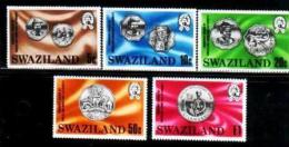 SWAZILAND, 1979, Mint Lightly  Hinged Stamps, Coins On Stamps, 326-330 , #6656 - Swaziland (1968-...)
