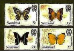 SWAZILAND, 1982, Mint Lightly  Hinged Stamps, Butterflies, 392-395 , #6669 - Swaziland (1968-...)