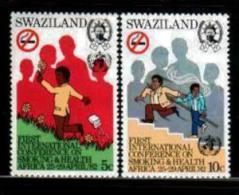 SWAZILAND, 1982, Mint Lightly  Hinged Stamps, Smoking & Health, 396-397 , #6670 - Swaziland (1968-...)