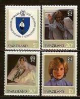 SWAZILAND, 1982, Mint Lightly  Hinged Stamps, Diana Birthday, 403-406 , #6671 - Swaziland (1968-...)