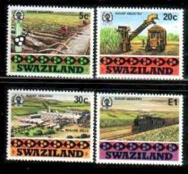 SWAZILAND, 1982, Mint Lightly  Hinged Stamps, Sugar Industry, 407-410 , #6672 - Swaziland (1968-...)