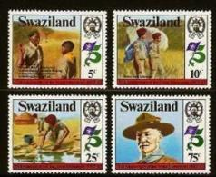 SWAZILAND, 1982, Mint Lightly  Hinged Stamps, Scouting, 415-418 , #6674 - Swaziland (1968-...)