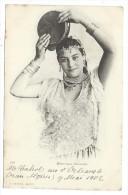 CPA - MAURESQUE DANSEUSE - Circulé 1902 - Edit. J. Geiser à Alger - Afrique