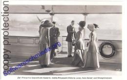 Kiel S.M.Yacht Die Familie Des Kaisers An Bord Unter Sich Kronprinz Kaiser Wilhelm II Ungelaufen - Königshäuser