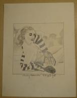 Dessin Au Crayon 1953- Shirley Burnistin , Est Une Actrice Américaine( 2) - Dessins