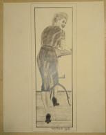Dessin Au Crayon 1951 -jeune Femme (2) - Dibujos