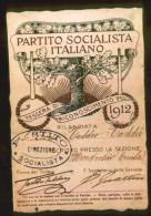 PARTITO SOCIALISTA ITALIANO - TESSERA DEL 1912 - Documents Historiques