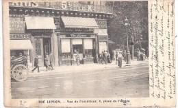 PUBLICITE : 75 PARIS 9° - THE LIPTON - Vue De L'Extérieur, 6, Place De L'Opéra - Circulé En 1906 - BE - Arrondissement: 09