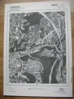 GRAND PHOTO VUE AERIENNE 66 Cm X 48 Cm De 1985 AYWAILLE SOUGNE REMOUCHAMPS - Cartes Topographiques