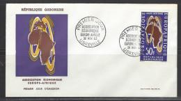GABUN FDC Mi-Nr. 191 Unterzeichnung Des Vertrages Zwischen Der Europäischen Wirtschaftsgemeinschaft Und Der Union Afrika - Gabun (1960-...)