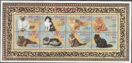 """NEVIS  812-9 Im Kleinbogen """"Perserkatzen"""" MNH / ** / Postfrisch - St.Kitts Und Nevis ( 1983-...)"""