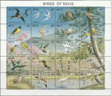 """NEVIS  596-615 Im Zusammendruckbogen """"Vögel Der Insel Nevis"""" MNH / ** / Postfrisch - St.Kitts Und Nevis ( 1983-...)"""