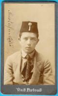 MOSTAR - Ucenik Mustafa Nozic * Bosnia * Vintage Cardboard Cabinet Photo - Bosnia And Herzegovina