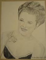 Dessin Au Crayon 1950 -Barbara Hale Est Une Actrice Américaine Née Le 18 Avril 1922 (2) - Dessins
