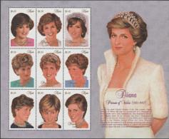 """NEVIS 1158-66 Im Kleinbogen """"Tod Von Prinzessin Diana"""" MNH / ** / Postfrisch - St.Kitts Und Nevis ( 1983-...)"""