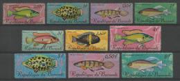 TP DE LA REPUBLIQUE DU BURUNDI  217 à 232 NEUFS SANS CHARNIERE  (2 SCANS !) - 1962-69: Ungebraucht