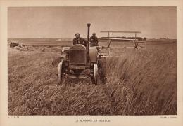 Beau Plan De Tracteur Moisson En Beauce 1944 - Non Classés