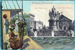 POZSONY - PRESSBURG - BRATISLAVA ... Maria Terezia Szobor. - Maria Theresia ( Slovakia ) Not Travelled * Slovak Republic - Slovakia