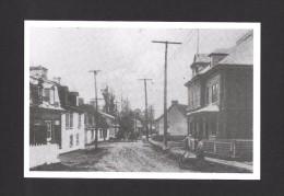 BEAUPORT - QUÉBEC - VUE VERS L´ OUEST DE LA RUE DU TEMPLE ET ROYALE VERS 1920 - PHOTO MICHEL BÉDARD - Québec - Beauport