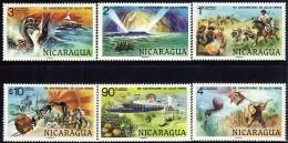 Nicaragua Jules Verne Sc 1085-1088,C942-C943 MNH 1978 - Nicaragua
