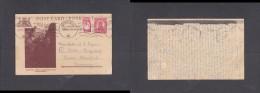 South Africa, 1946,  1d Postal Card (Drakensberg) Uprated  + 1d War Effort (nurse)PIETERSBURG  C.d.s. >Germany - Zuid-Afrika (...-1961)