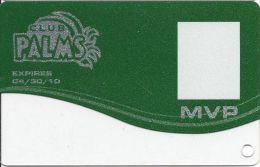 Palms Casino Las Vegas NV - MVP Slot Card Exp 04/30/10 - Casino Cards