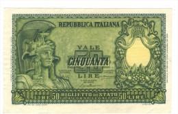 ITALY, 50 LIRE, 1951,  XF ,   Free Ship. To USA. - [ 2] 1946-… : Repubblica