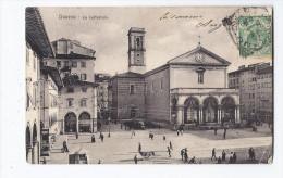 CPA ITALIE - LIVORNO - LIVOURNE - La Cathedrale - TB PLAN CENTRE VILLE Animation - Jolie Oblitération Verso - Livorno