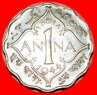 § GREAT BRITAIN: INDIA ★ 1 ANNA 1944! LOW START ★ NO RESERVE! George VI (1937-1952) - India
