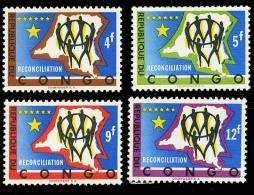 Congo Scott 451-54 (Reconciliation) [**] - Republic Of Congo (1960-64)