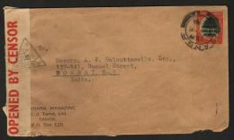 Kenya Uganda Tanganyika 1943 KG VI WW II Cover  Tanga To  India   # 89500 Inde  Indien - Kenya, Uganda & Tanganyika