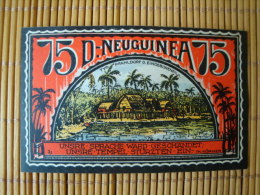 Notgeld, DEUTSCHE KOLONIEN, 75 Pfennig, D.- NEUGUINEA, 1922, Gute Erhaltung ! - [12] Colonies & Foreign Banks
