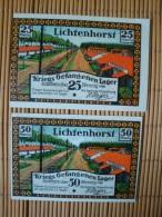 Notgeld, Lichtenhorst Kriegsgefangenenlager, 25 + 50 Pfennig, Gute Erhaltung ! - Lokale Ausgaben