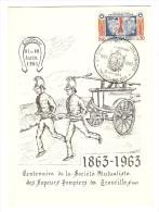 21 AU 28 JUIN 1964 CENTENAIRE DE LA SOCIÉTÉ MUTUALISTE DES SAPEURS POMPIERS DE TROUVILLE SUR MER - Y & T 1404 - - Marcophilie (Lettres)