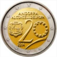 VF MOEDA 2 EUROS  COMEMORATIVA DE ANDORRA  2014 - Andorra