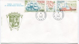 ALFRED FAURE CROZET Env. Du 01/01/1990 Avec Tryptique PA 113A - French Southern And Antarctic Territories (TAAF)