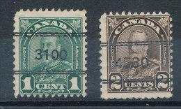 Canada N°141 Et 144 Oblitération Chiffres - 1911-1935 Règne De George V