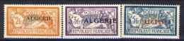 Algeria 1924-25 Timbre De France 1900-24 Sovrastampati. Alti Valori N. 31-33 **MNH Catalogo € 28 - Unused Stamps