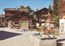 Suisse -- Valais -- Vercorin -- Place De La Fontaine - VS Valais
