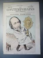 Les Contemporains Auguste Vacquerie + Articles De Journeaux Et Fac Similé Autographe - Old Paper