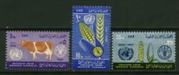 Egypte ** N° 561 à 563 - Campagne Contre La Faim - Égypte