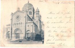DIJON  La Synagogue - Taches  Timbre Décollé - Dijon