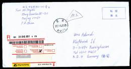A3744) PR China R-Brief Von Beijing 05.05.2001 Nach Deutschland Mit Mi.Block 91 - Storia Postale